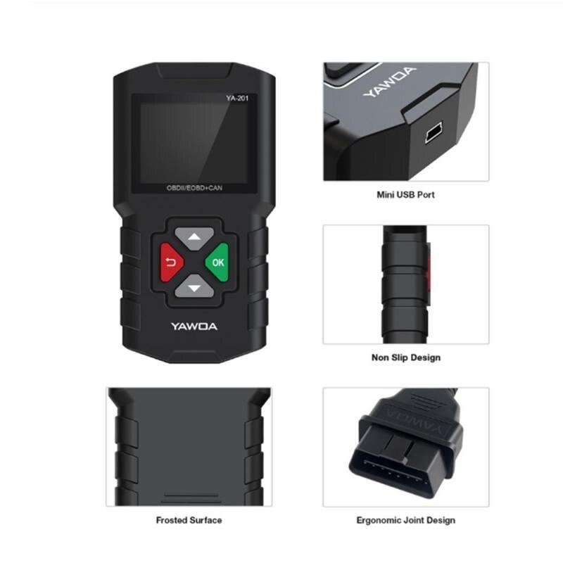 YA-201 OBD2 Scanner Auto Auto Diagnose Werkzeug OBDII Motor Fehler Code Reader Scan Werkzeuge auto zubehör für 12V autos