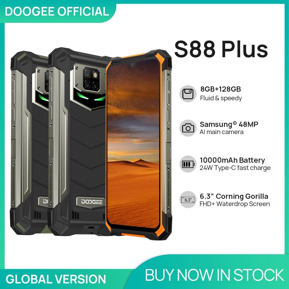 DOOGEE S88 Plus Rugged SmartPhone 48MP Main Camera 8GB RAM 128GB ROM IP68/IP69K smart phone Android 10 OS Global version 1