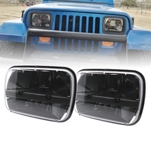 5X7 inch LED highand low beam square headlights high for Jeep Wrangler YJ Cherokee XJ trucks 4X4 offroad