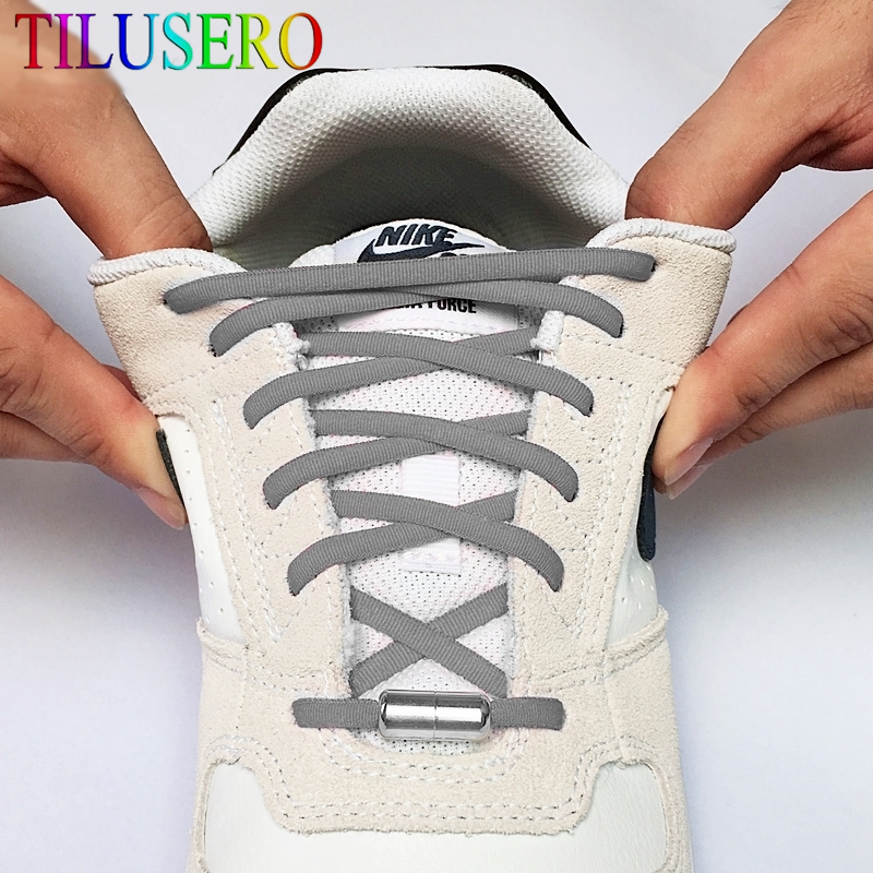 1Pair Elastic No Tie Shoelaces Stretched Lazy Round Shoe Lace Slip-on Shoelaces Elastic Quick Lock Laces Shoestrings