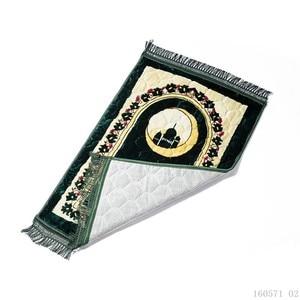 Image 5 - มุสลิม 80*120 CM Chenille Thicken ผ้าห่ม Salat Musallah พรม Tapis พรมอิสลาม Namaz Non  ลื่นสวดมนต์เสื่อ