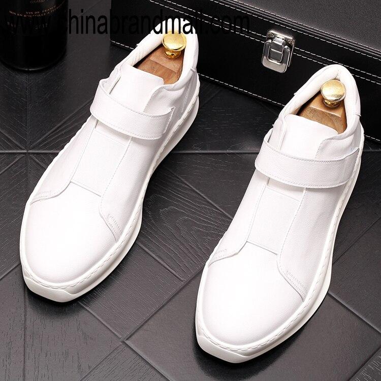 Zapatillas Hombre luxe Designer mode jaune blanc hommes chaussures marque goujons rouge haut haut chaussures décontractées homme