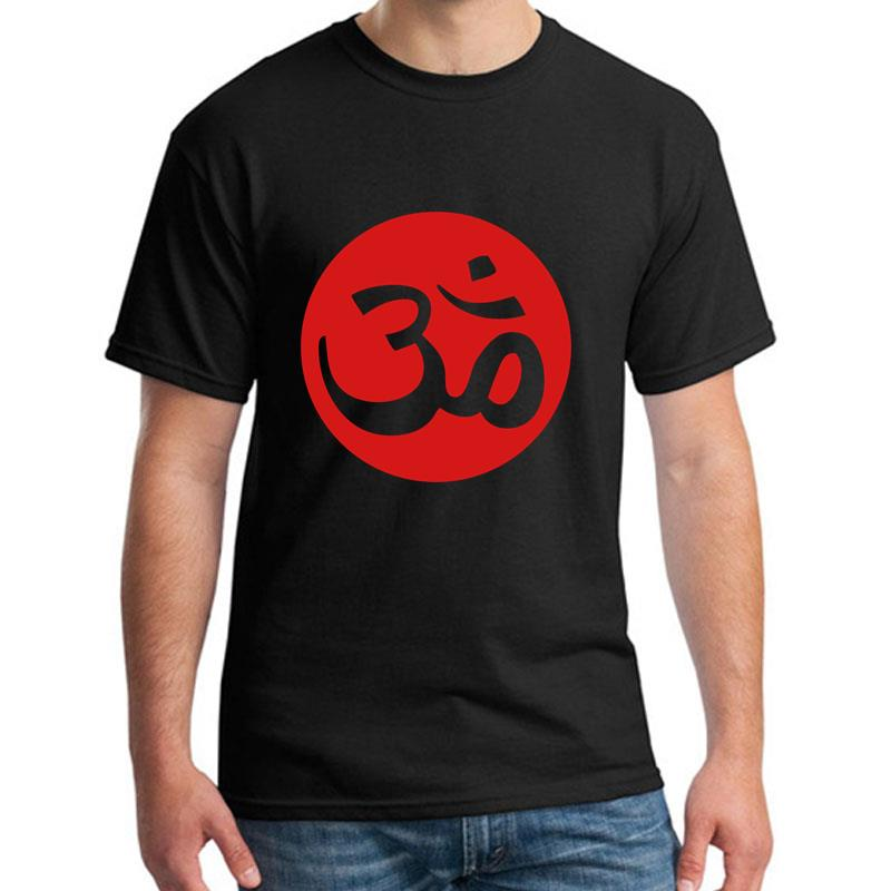 Graphic Aum <font><b>Om</b></font> <font><b>tshirt</b></font> for men Comfortable Breathable Knitted male female tee t shirts Building HipHop Tops image