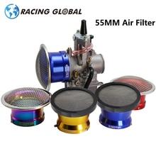 ALCON Racing فلاتر هواء مكربن 55 مللي متر ، مع شبكة شاشة ، لمكربن PWK32 PWK34 Keihin OKO KOSO MIKUNI PZ