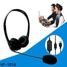 Микрофон с шумоподавлением usb Проводная телефонная гарнитура