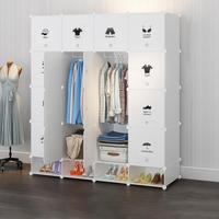 Plastic Wardrobe Cabinet Closet Wardrobes Cube Storage Organizer Portable Clothing Storage Closet Cabinet Bedroom Furniture HWC