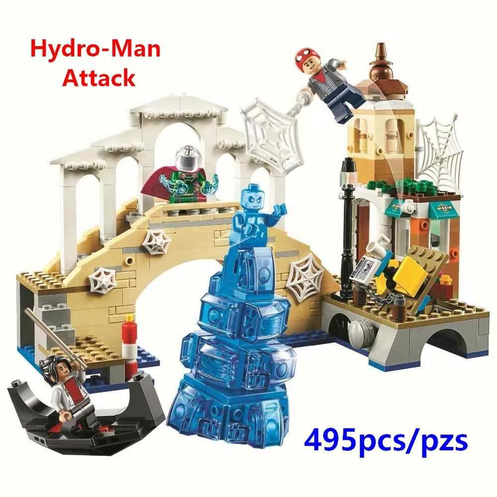 New Superheroes Avengers 4 Spider-Man Mysterio marvel avengers Endgame Figures Building Blocks Toys Compatible with lego 76129