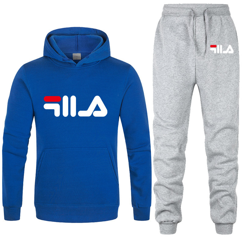 New 2019 Brand Tracksuit Fashion Men Women Sportswear Two Piece Sets All Cotton Fleece Thick hoodie Pants Sporting Suit Male in Men 39 s Sets from Men 39 s Clothing