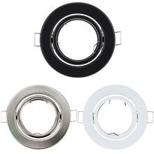 Fixture-Downlight Spot-Bulb Frame Ceiling-Spot-Lights Gu10 Fitting MR16 Recessed Round
