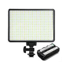 396 lâmpadas led iluminação bi-color & dimmable magro dslr vídeo led luz + f550 bateria + carregador para câmera canon nikon dv filmadora