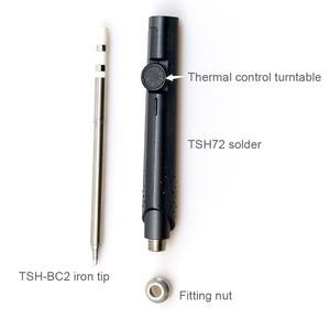 Image 2 - SH72 65W 24V 220 400 ℃ מתכוונן מלחם תחנת DC5525 SH K SH KU SH D24 SH BC2 SH C4 SH I ברזל טיפים סט של כלים