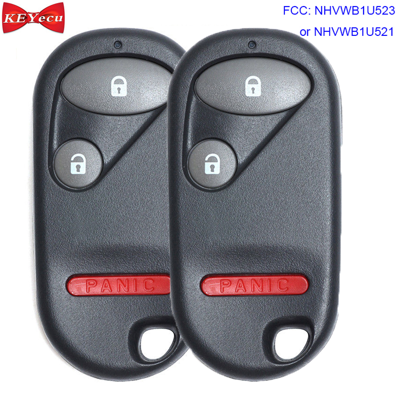 2x New Replacement Keyless Entry Remote Key Fob For Honda CRV CR-V OUCG8D-344H-A