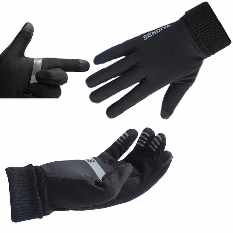 2019 جديد الشتاء في الهواء الطلق الدافئة قفازات كاملة الأصابع درب كبير الرجال ملابس نسائية مقاومة التنزه الدراجات التزلج قفازات الركض