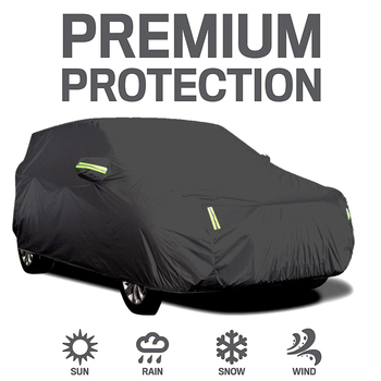 Universal Full Car Covers Full Sedan Covers Sunscreen Protection polyester Cover with Reflective Strip SUV/Sedan/Pickup S-XXL