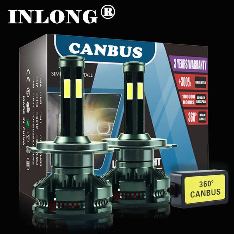 สินค้าใหม่ H4 หลอดไฟ LED CANbus ไม่มีข้อผิดพลาด H7 H11 LED 6500K 16000LM 9005 HB3 9006 HB4 รถอัตโนมัติไฟหน้า 12V ไฟ LED โคมไฟ