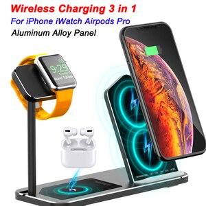 Image 1 - Iphone ワイヤレス充電器 3 1 でアルミ合金アップル時計 iwatch 1 2 3 4 5 airpods プロワイヤレス充電ドック