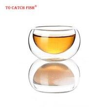 4 шт. креативная термостойкая стеклянная чашка с двойными стенками, высококачественные модные кружки для чая, кофе, сока, посуда для напитков, кунг-фу чайная чашка
