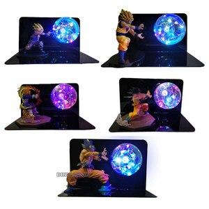 Image 2 - Dragon Ball и Super Goku Вегета Gogeta Figuras светодиодный светильник Dragon Ball лампы Ультра инстинкт Гоку Спальня декоративный ночной Светильник подарки