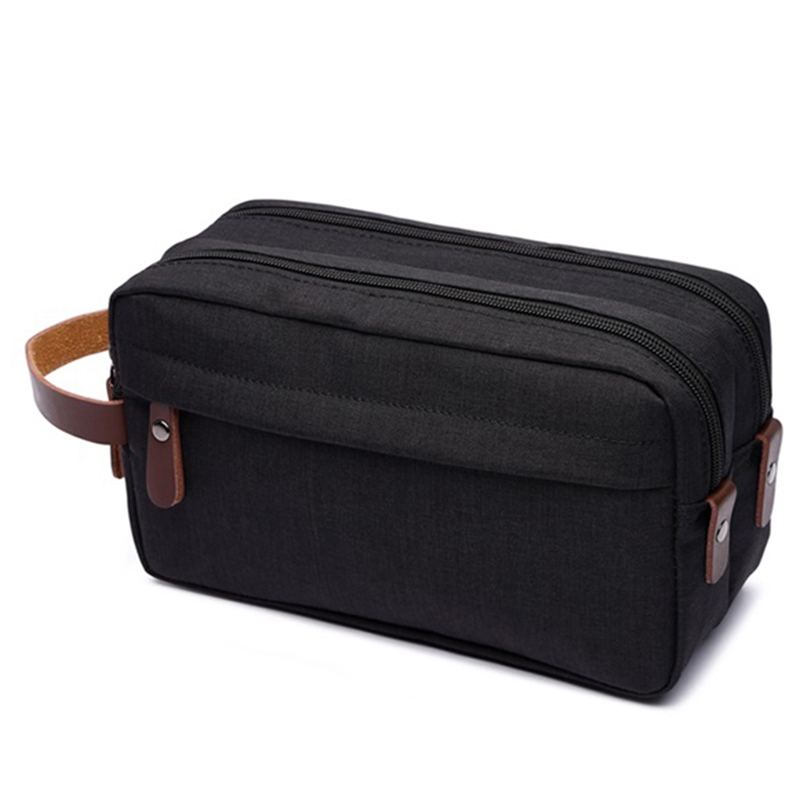 Black Makeup Case Travel Canvas Cosmetic Makeup Organizer Women Toiletry Bag Beautician Beauty Case Men Makeup Bag