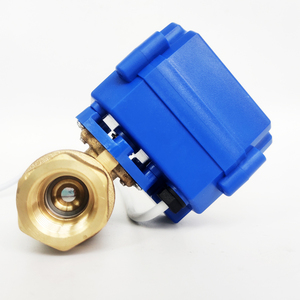 """Image 2 - 1/2"""" Electric motor valve Brass, DC12V Motorized valve with 2 wires(CR01), DN15 Electric valve for solar water heating systems"""