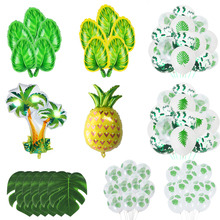 10pcs 12inch Palm Leaf Latex Balloons transparent balloons Summer Wedding Hawaii Tropical Party Decor Green Leaves Jungle Party pineapple party decorations pineapple cups balloons hawaii tropical party summer flamingo party luau wedding decor palm leaf