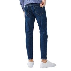 Image 2 - SEMIR 청바지 남성 스트레이트 바지 남성 클래식 청바지 남성 데님 청바지 디자이너 바지 캐주얼 세련된 패션 바지 탄력 블루