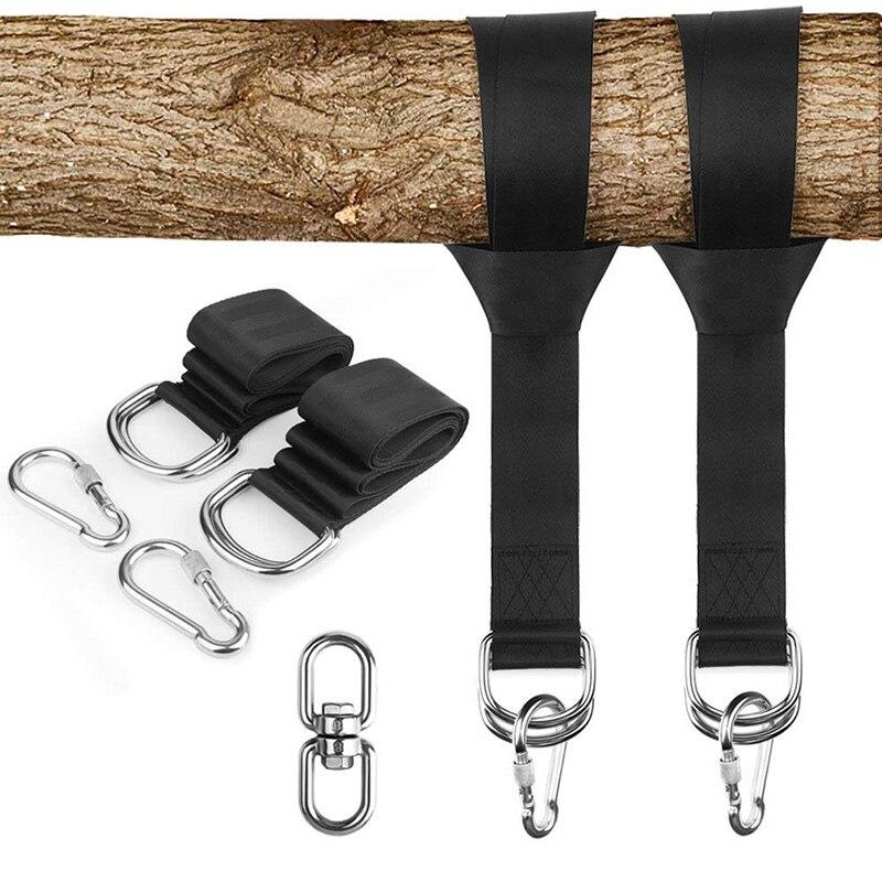 Tree Swing Hanging Kit Hammock Straps Rope Carabiner 550 KG Load Capacity Swing Rope Training Garden Camping Travel Beach Yard