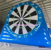 Giant inflatable football kick darts board soccer dart game with sticky dartboards
