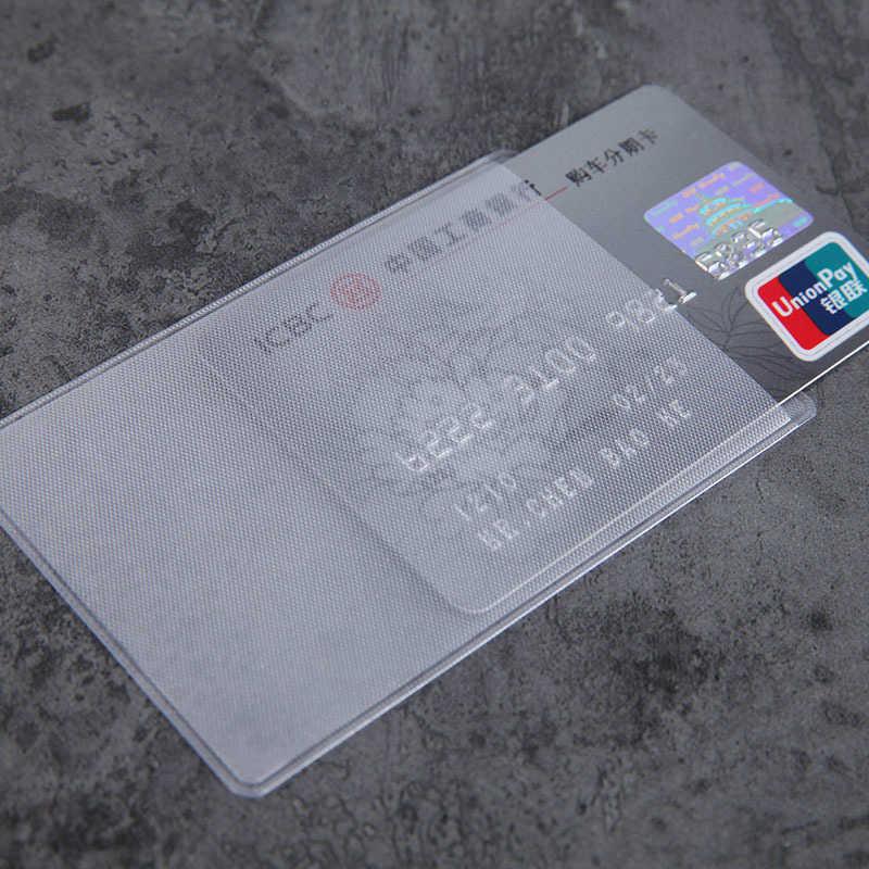 10 pz/lotto 60*93 millimetri di Carta Trasparente di Protezione Maniche ID Raccoglitori del Supporto di Carta Della Borsa di Affari Della Carta di Credito Della Copertura Della Protezione borse