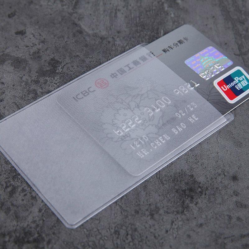 10 шт./лот 60*93 мм прозрачные защитные чехлы для карт, держатели для ID карт, кошельки, кошелек, Защитные чехлы для визиток и кредитных карт