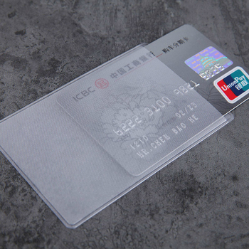 10pcs/lot 60*93mm Transparent Card Protector Sleeves ID Holder Wallets Purse Business Credit Cover Bags - discount item  5% OFF Wallets & Holders