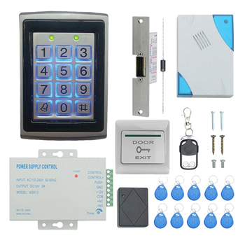 TZF005-04 RFID Keypad Access Control System Kit Door Lock 125KHz EM Card, Door Entry Access Control System Kit Password Host Con