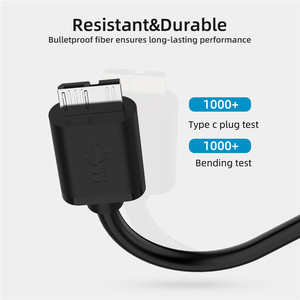 Image 5 - USB 3.1 Type C to Micro B Cable Connector Male to Male Charging Data Cable For External Hard Drive Disk HDD