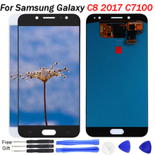 C710 LCD For Samsung Galaxy C8 2017 Display C710F C7100 Screen Touch Digitizer Assembly Replace for samsung