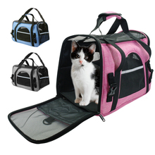 Carriers Pet-Bag Pets-Handbag Travel Breathable Pink Blue Soft-Sided Outgoing
