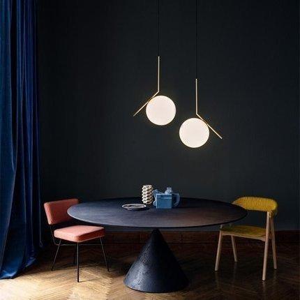 Modern Pendant Lights Kitchen Fixtures For Dining Room Home Hanging Lamp Gold Glass Ball Restaurant Decor Lighting Lustre