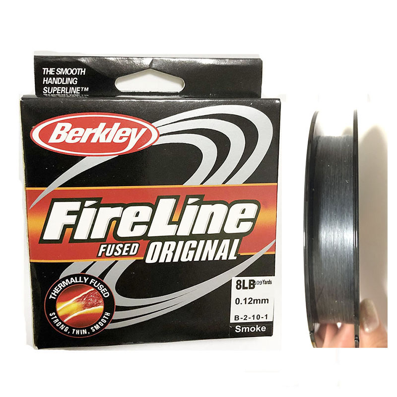 Fire-Line Beading Fused-Fishingline Mono Nylon for Pesca 40LB/50LB Smoke300yard/109yds title=