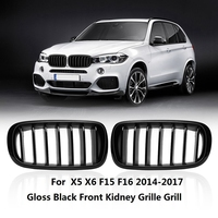 Gloss Black for BMW F15 X5 F16 X6 X Series 2014 2015 2016 Left & Right Front Hood Replacement Kidney Grille Grill