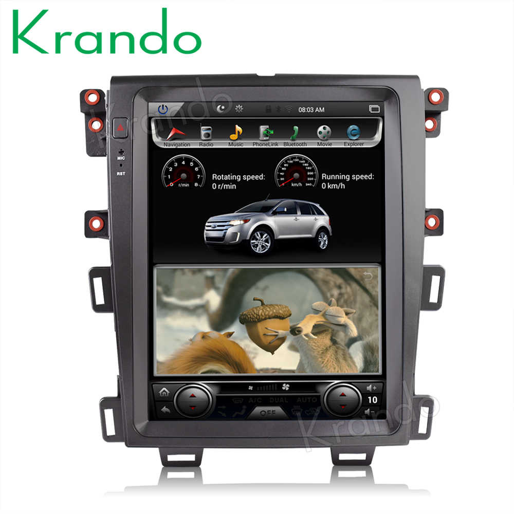 "Krando Auto Radio Gps Android 8.1 4 + 64G 12.1 ""Voor Ford Edge 2009-2014 Tesla Verticale screen Audio Navigatie Multimedia Systeem"