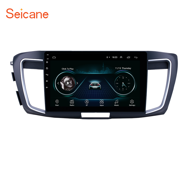 Seicane 10.1 inch Android 8.1 Car GPS Navigation Radio Stereo for 2013 <font><b>Honda</b></font> <font><b>Accord</b></font> 9 2.0L Low version Unit support Carplay TPMS image