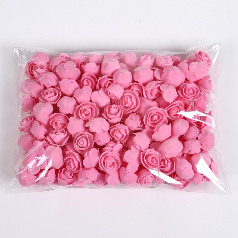 Roses 3cm Gifts-Box Teddy Christmas-Decor Wedding-Decorative Foam Artificial-Flowers