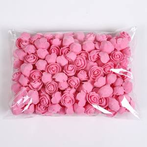 50/100/200 Pieces Teddy bear of roses 3cm Foam wedding decorative flowers christmas decor for home diy gifts artificial flowers