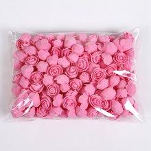 50/100/200 sztuk miś z róże 3cm pianki ślub dekoracyjne dekoracje świąteczne dla domu Diy prezenty pudełko sztuczne kwiaty