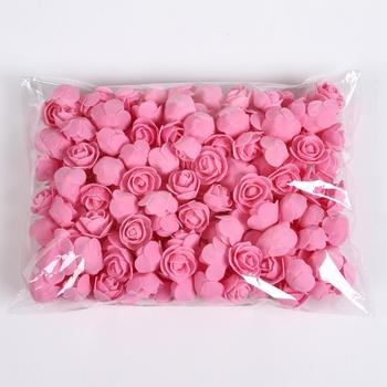 50 100 200 sztuk miś z róże 3cm pianki ślubne dekoracje kwiatowe dekoracje świąteczne dla domu diy prezenty sztuczne kwiaty tanie i dobre opinie TTCY Róża Ślub Kwiat Głowy