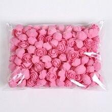 Urso de pelúcia de rosas 100/200 peças, 3cm, espuma, casamento, decoração de natal para casa, diy, presentes, caixa, flores artificiais