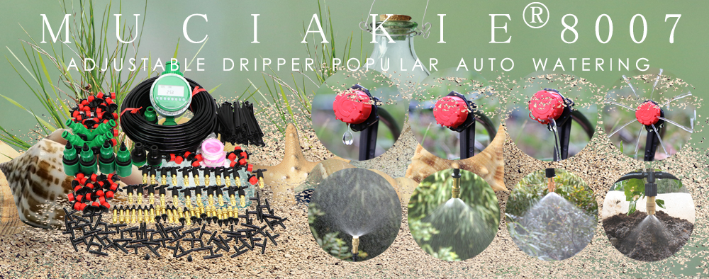 H80541e2e5e8448a2bb28467e677720dcU MUCIAKIE 50M-5M DIY Drip Irrigation System Automatic Watering Garden Hose Micro Drip Watering Kits with Adjustable Drippers