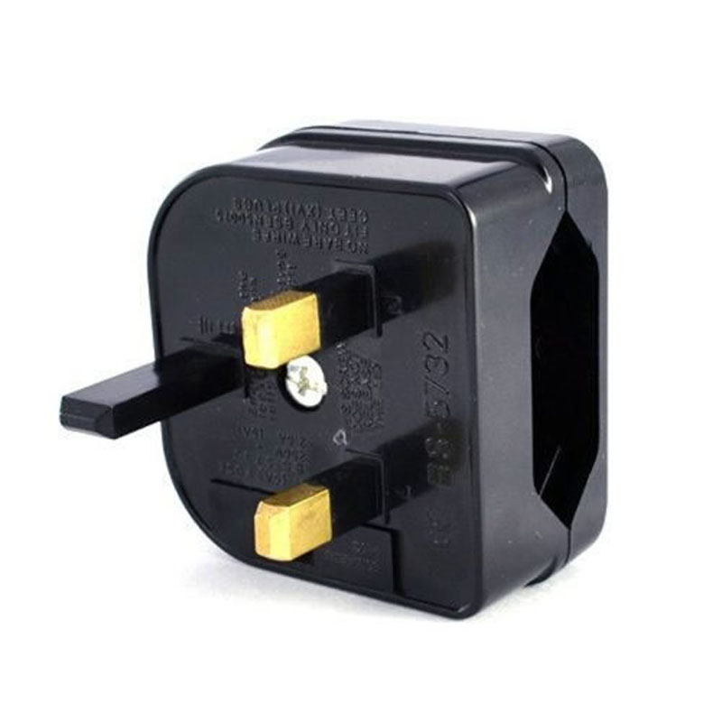 New European Euro EU 2 Pin To UK 3Pin Power Socket Travel Plug Adapter Converter 85WD