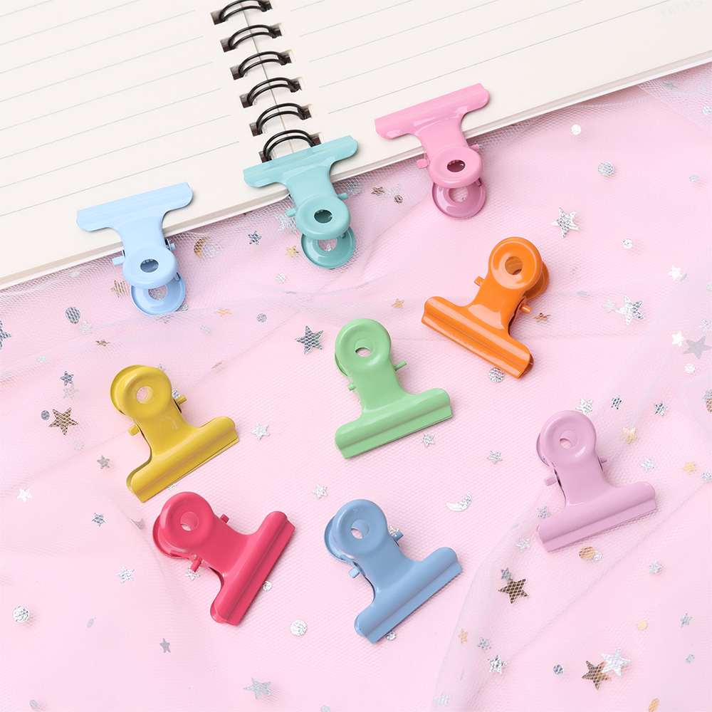 5 PCs Candy Color Metal Office Paper Document Binder Clips 22mm Folder Note Letter Paper Clip School Office Stationery Supplies