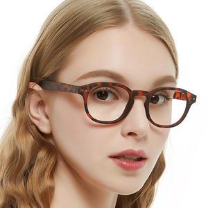 Image 1 - Очки с прозрачными линзами мужские и женские, винтажная оптическая оправа для компьютера, в круглой оправе