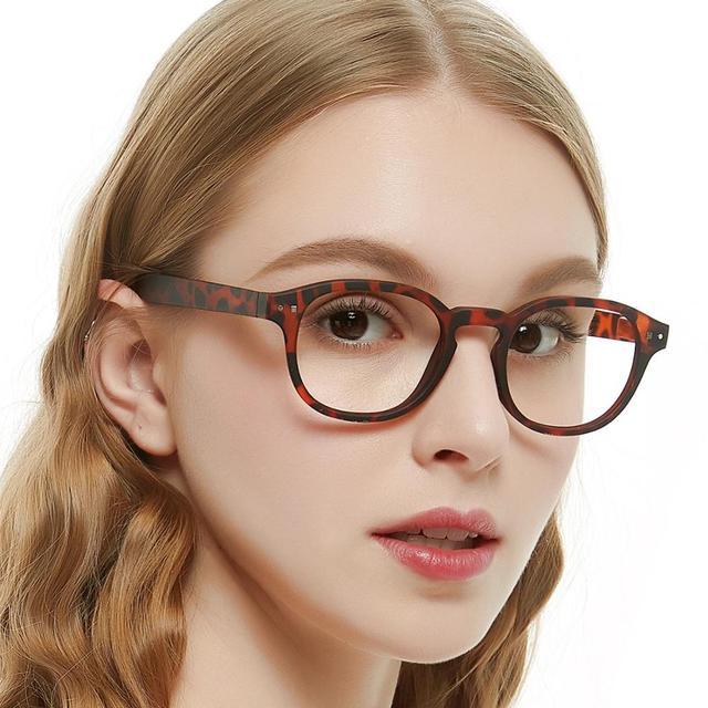 Очки с прозрачными линзами мужские и женские, винтажная оптическая оправа для компьютера, в круглой оправе
